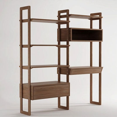 书柜 纯全实木书房家具自由组合带门欧式书橱书架